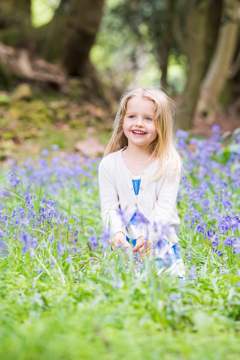 bluebell photoshoot in Sussex