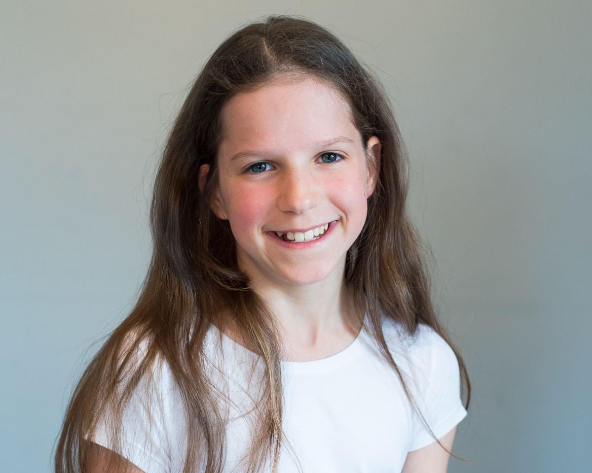 Colour portrait of young child model