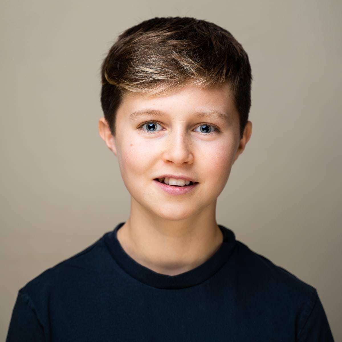 Professional child actor portrait taken in Haywards Heath