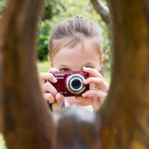 young girl on a photography course