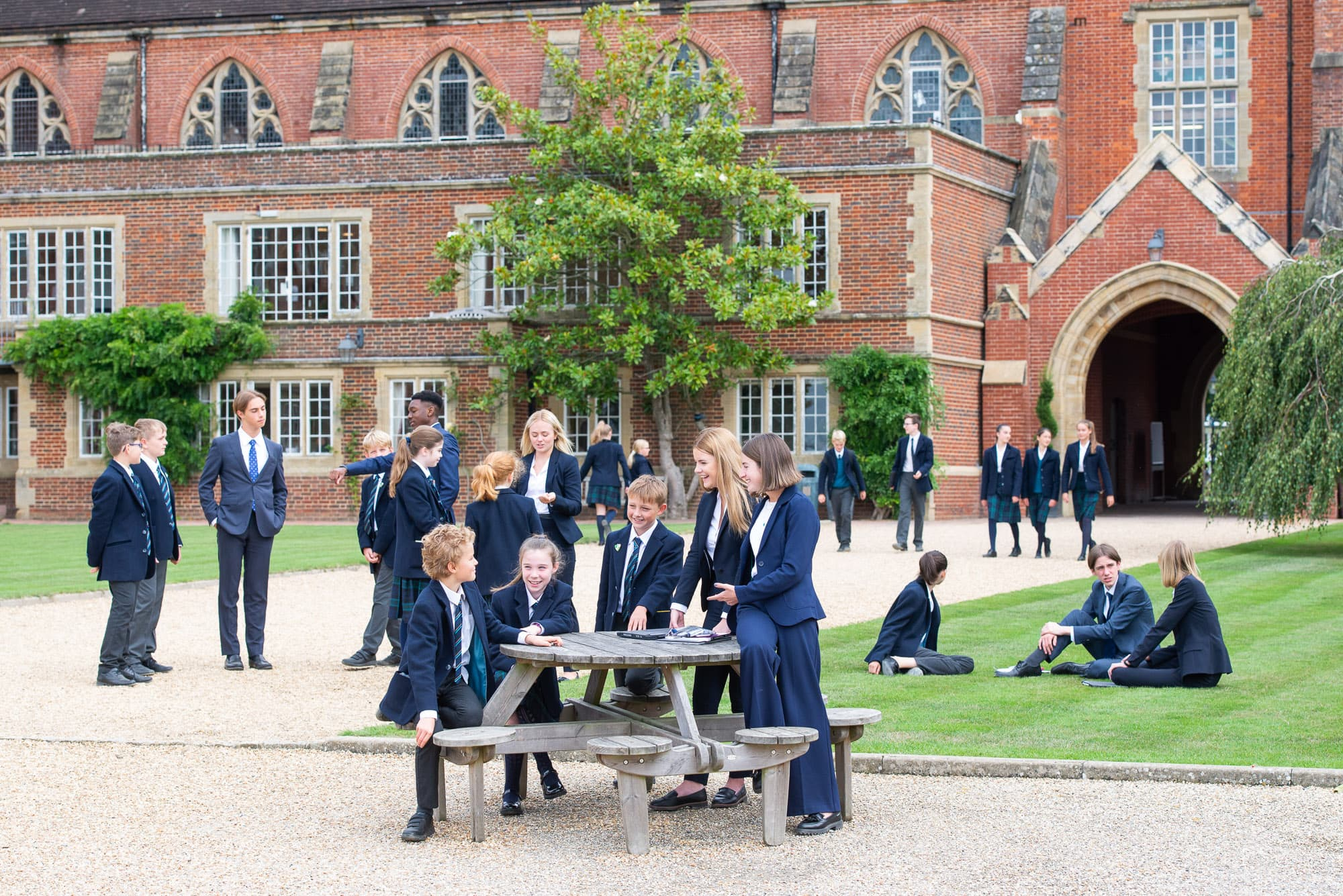 group of children outside Ardingly College