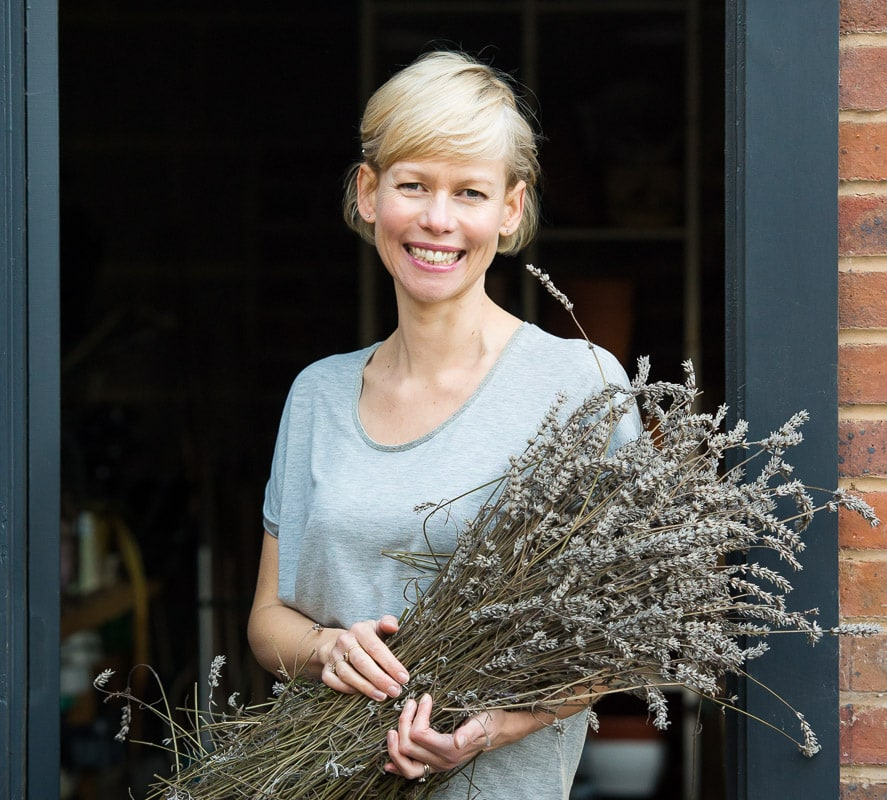 Haywards Heath Photographer - Florist holding lavender on a personal branding shoot