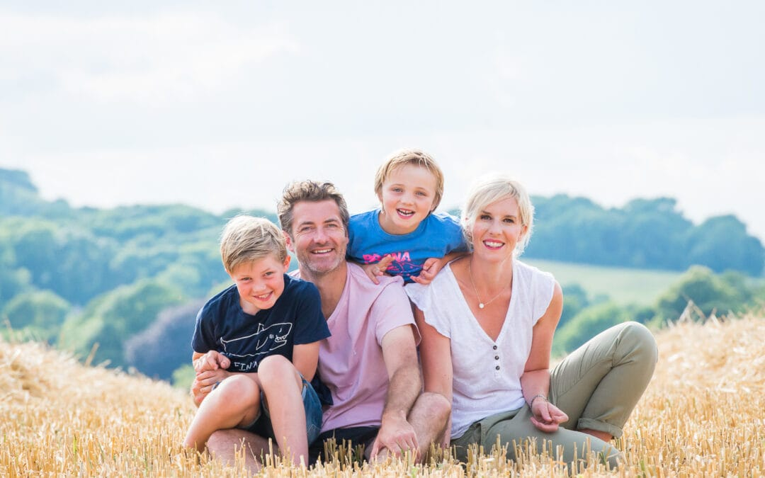 A family photoshoot in Ditchling, Sussex